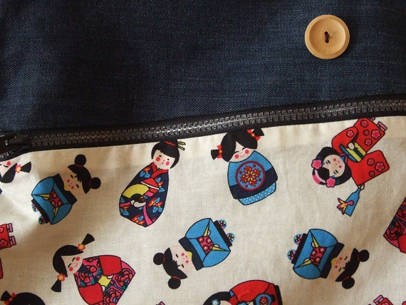 bossa kokeshis detall Petit taller de costura